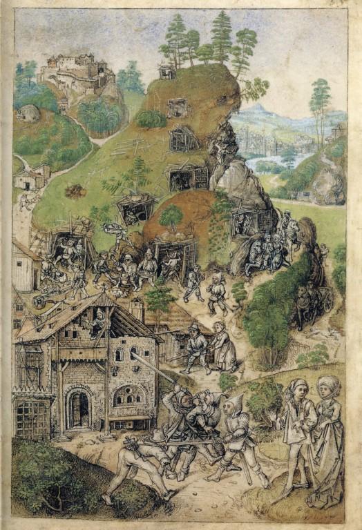 hausbuch_wolfegg_35r_bergwerk1